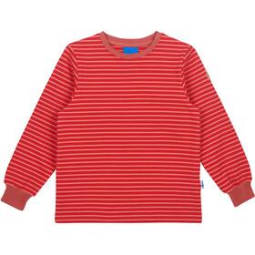 Finkid Rivi Langærmet T-shirt Piger, red/rose